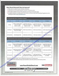 03-07 Ford 6.0 6.0L Powerstroke Diesel Truck Motorcraft Oil Air Fuel Filter Kit