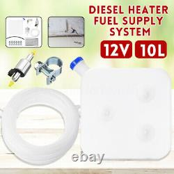 10L Tank 12V Fuel Pump Oil Filter Nozzle Set For Diesel Air Heater W
