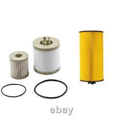 10x For 2003-07 Ford 6.0L Powerstroke Diesel Oil & Fuel Filter Kit FD4616 FL2016