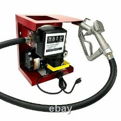 110V Electric Diesel Oil Fuel Transfer Pump with Meter +13' Hose & Nozzle Kit
