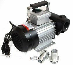 110v AC 16GPM Oil Transfer Pump Kit Fuel Diesel Biodiesel withDigital Nozzle, Hose