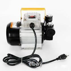 110v Motor Electric Oil Pump Transfer Fuel Diesel Kerosene Fluid Extractor Pump
