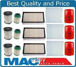 12 Diesel Fuel Air Oil Filters Recommeded Service for Nissan Titan XD 5.0 16-18