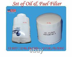 12 Set of Engine Oil Filter & Fuel Filter Fits Chevrolet GMC Isuzu 5.2L Diesel