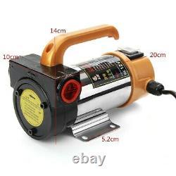 12V Car Portable Fuel Diesel Pump Oil Transfer Pump Self Priming 50L/Min 260W US