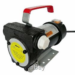 12V DC 155W Electric Fuel Transfer Pump Diesel Kerosene Oil With Hose and Nozzle