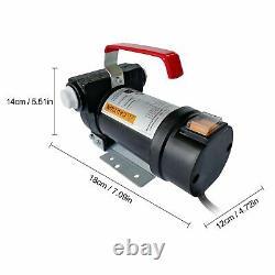 12V DC 155W Electric Fuel Transfer Pump Diesel Kerosene Oil with Hose Nozzle