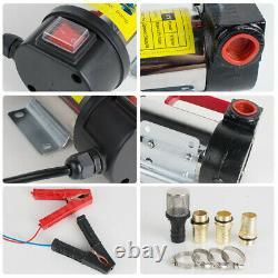 12V DC Electric Diesel Oil and Fuel Transfer Pump Set +Outlet/Inlet Hose & Gun