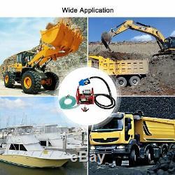 12V DC Electric Fuel Transfer Pump Diesel Kerosene Oil Commercial Auto with Nozzle
