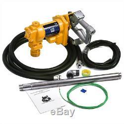 12V Electric Pump Fuel Transfer 12 Volt Diesel Oil Gasoline Kerosene Gas Nozzle