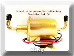12V angle Low Pressure Electric Fuel Pump Diesel Gas Fuel Oil for Universal car