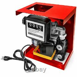 16GPM 110V Electric Fuel Pump- Diesel Oil Kerosene- withMeter, 13ft Hose & Nozzle