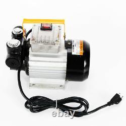 16GPM 550W Self Priming Electric Oil Pump Transfer Fuel Diesel 110V AC 60hz
