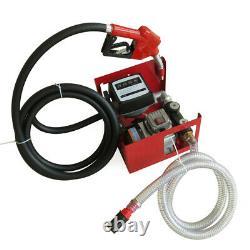 220v Electric Diesel Oil Fuel Transfer Pump withMeter +Hose & Nozzle New
