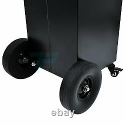 30 Gallon Gas Caddy 8FT Hose Oil Container Fuel Diesel Transfer Tank Rotary Pump