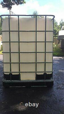 330 Gallon Tote water diesel fuel rain storage Food grade ibc farm vegetable oil