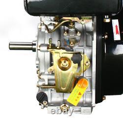 4 Stroke Diesel Engine Single Cylinder Fuel Oil Tank Volume 5.5L 10HP US STOCK