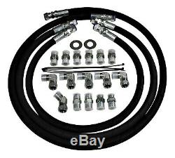 5/8 12000 PSIB Allison Transmission Cooler Lines 01-10 6.6l Duramax with Adapters