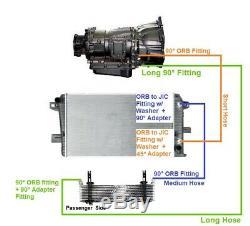 5/8 6000 PSIB Allison Transmission Cooler Lines 2011-2016 Chevy GMC 6.6l Duramax