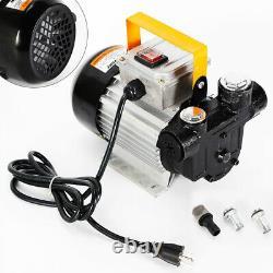 550W Self Priming Electric Oil Pump Transfer Fuel Diesel 110V AC 16GPM 60L/MIN