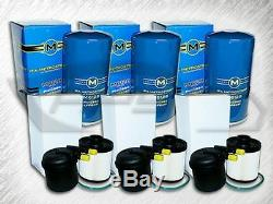 6.7l Turbo Diesel 3 Oil & 3 Fuel Filters Package Of 6 Replaces Fd4615