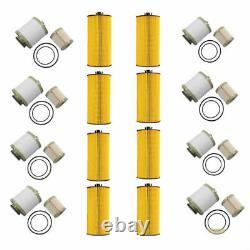 8X FD4616 Fuel Filter (for 6.0L)& FL2016 Oil Filter For 2003-2007 Ford Excursion