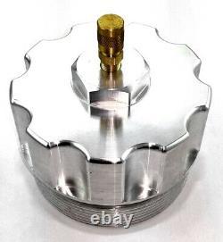 Billet Aluminum Oil Filter, Fuel Filter and Oil Filler Cap Set with Test Port for
