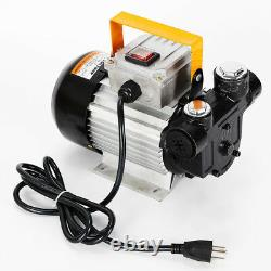 Commercial Self Priming Electric Oil Pump Transfer Fuel Diesel 110V AC 16GPM TOP