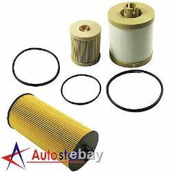 Diesel Oil Filter Fuel Filter For 03-07 Ford Powerstroke 6.0L FL2016 FD4604