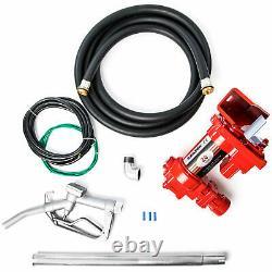 Electric 12V DC Fuel Transfer Pump Diesel Kerosene Oil Commercial Auto Portable