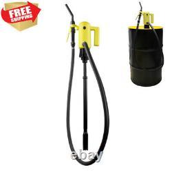 Electric Drum Pump Fuel Gasoline Diesel Barrel Oil Transfer Portable 55 Gallon