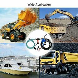 Electric Fuel Transfer Pump Diesel Kerosene Oil Commercial Auto 12V DC with Nozzle