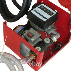 Electric Fuel Transfer Pump Diesel Oil Commercial Auto with Hoses & Fuel Nozzle