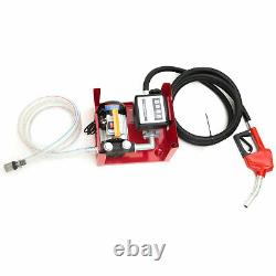Electric Gas Transfer Pump 220V Oil Fuel Diesel Automatic with Hoses&Fuel Nozzle