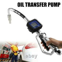 Electric display gasoline diesel oil gun digital fuel nozzle with flow meter