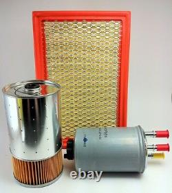 Filter Kit Ssangyong Musso 2.9l Turbo Diesel 07/04-on Air Oil Fuel Hdf924