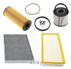 For Audi Q7 09-10 V6 3.0L Diesel Engine Oil Fuel Cabin Air Filters Tune Up Kit