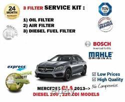 For Mercedes Gla200 Gla220 CDI Diesel 2013- Oil Air Fuel 3 Filter Service Kit