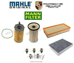 For Porsche Cayenne 3.0L Diesel Fuel Filter with Bolts & Air Cabin & Oil Filters