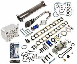 Ford 6.0L Diesel EGR Delete Kit & Oil Cooler Fuel Pressure Regulator Blue Spring