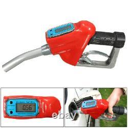 Fuel Gasoline Diesel Petrol Oil Delivery Gun Nozzle Dispenser+Digital Flow N