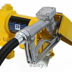 Fuel Transfer Pump 12 Volt 10GPM Diesel Oil Fuel Transfer Kit Car Tractor Truck