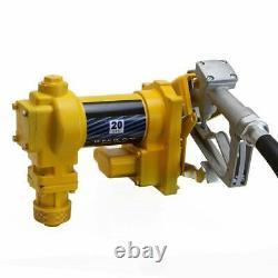 Fuel Transfer Pump 12 Volt Diesel Oil Transfer Kit Truck 37FT Max. Total Head