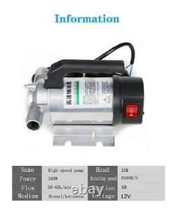 Fuel Transfer Pump 12V 50L/Min Oil Diesel Kerosene Water Car Truck Tractor