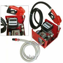 Fuel Transfer Pump Station 220V 60L/Min Diesel Fuel Oil Pump Dispenser 550W EU