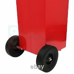 Gas Fuel Diesel Caddy Transfer Tank 30 Gallon Rotary Pump Oil Container 8FT Hose
