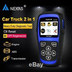 HD Diesel Gas Heavy Duty Truck Auto Scanner ABS DPF Oil Reset Sensor Calibration