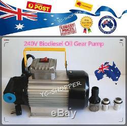 Heavy Duty 240V Diesel Biodiesel Oil Fuel Gear Transfer Pump