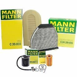 Mann Oil Air Carbon Cabin Fuel Filter ServiceKit For W212 2.1 OM651 Turbo Diesel