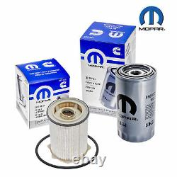 Mopar Diesel Fuel & Oil Filter 68065608AB 05083285AA For Ram 2500 3500 4500 5500